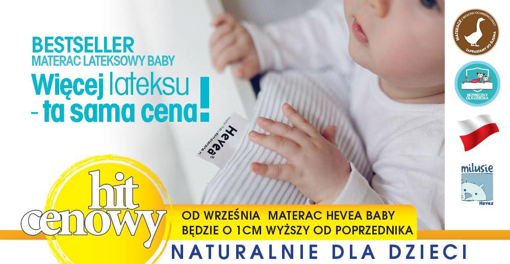Materac lateksowy Hevea Baby - bestseller