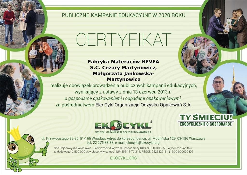 certyfikat Eko