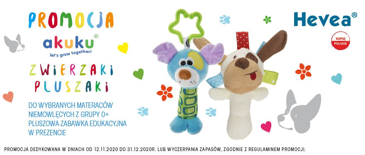 Promocja Zwierzaki Pluszaki Akuku Hevea